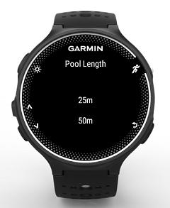 App de natación para Garmin 235